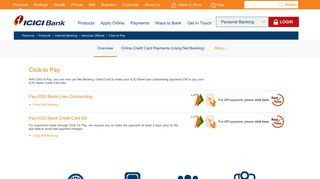 Credit Card Payment Online, Pay Credit Card Bills, Loan ... - ICICI Bank