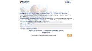 ICICI Bank Credit Card Billdesk Bill Pay