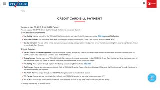 YES BANK Card Payment Options - Pay Your Credit Card Bills