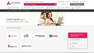 Online Credit Card Payment - Pay Credit Card Bills Online - Axis Bank
