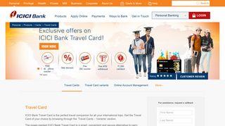 Travel Card   International Travel Card   Travel Cards India - ICICI Bank