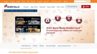 Multi Wallet Prepaid Card for Corporate Employee Payments - ICICI ...
