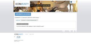 ICOMMUNITY: User account
