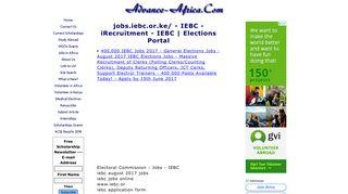 jobs.iebc.or.ke/ - IEBC - iRecruitment - IEBC | Elections Portal