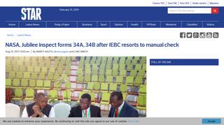 NASA, Jubilee inspect forms 34A, 34B after IEBC resorts to manual ...