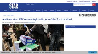 Audit report on IEBC servers: login trails, forms 34A, B not provided ...