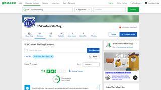 IES Custom Staffing Reviews   Glassdoor
