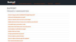 FAQs & Support - Bushnell Golf