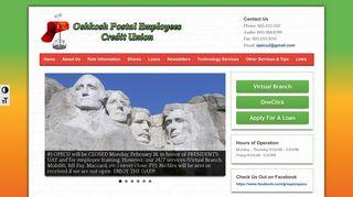 Oshkosh Postal Employees Credit Union – Serving the financial needs ...