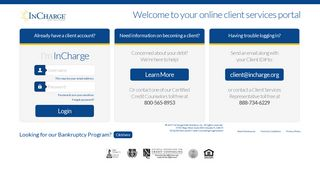 Client Login - InCharge Debt Solutions
