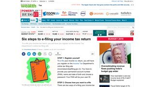 Six steps to e-filing your income tax return - The Economic Times