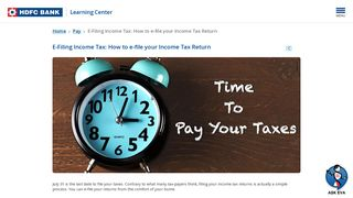 How to File Income Tax Return Online: Step by Step Guide | HDFC Bank