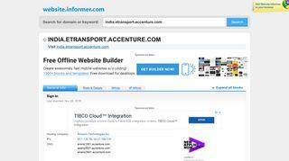 india.etransport.accenture.com at Website Informer. Sign In. Visit India ...