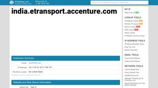 Sign In - india.etransport.accenture.com   IPAddress.com