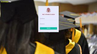 Knowledge Pro - MCC Student Portal
