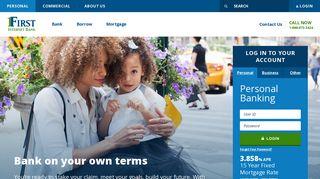 First Internet Bank: Online Banking | Savings, Checking, CDs ...