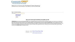 Community First Bank of Indiana - Online Banking - myebanking.net