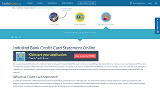Indusind Bank Credit Card Statement Download Online & Also Get by ...