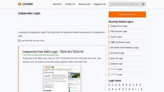 INDYAROCKS - Login to www.IndyaRocks.com for Free SMS