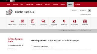 Infinite Campus Log In / IC Parent Portal Initial Login - School District 27J