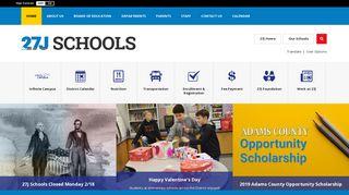27J Schools / Homepage