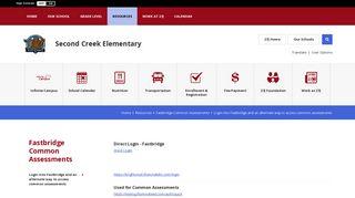 Fastbridge Common Assessments / Login into ... - School District 27J