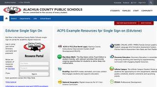 Edutone - Alachua County Public Schools