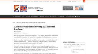 Alachua County Schools OKs $3.25M Software Purchase – WUFT News