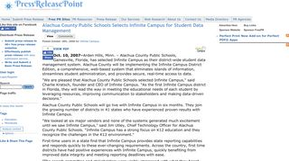 Alachua County Public Schools Selects Infinite Campus for Student ...