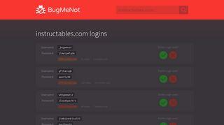 instructables.com passwords - BugMeNot