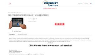 The Integrity Website Service - Non Client Price - Living Well Labs