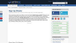 Sign Up Sheets - Vertex42