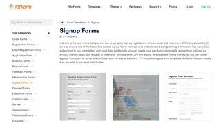 200+ Sign Up Form Templates & Examples - JotForm