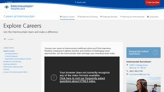 Explore Careers - Intermountain Healthcare