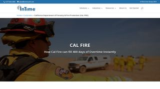 InTime   CAL FIRE - Scheduling & Overtime Management