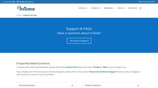 Support & FAQs   InTime