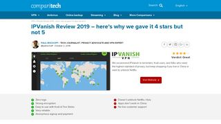 IPVanish Review 2019: Pass or Fail? In-depth VPN Testing Results