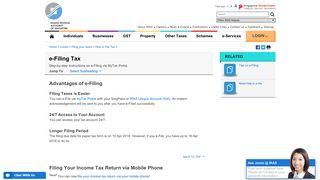 e-Filing Tax - IRAS
