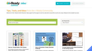 Ideas - i-Ready Central Resources