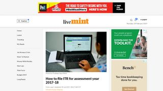 How to file ITR for assessment year 2017-18 - Livemint