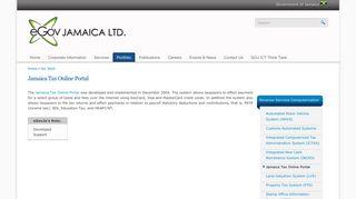 Jamaica Tax Online Portal | eGov Jamaica Limited