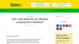 Can I pay taxes for my Jamaica property from America? - Jamaicans.com
