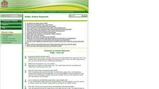 Online Payment FAQs - Tax Administration Jamaica