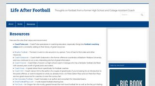 Resources - Life After Football