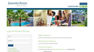 Login to Jamestown Estates Resident Services   Jamestown Estates