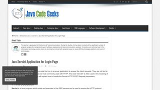 Java Servlet Application for Login Page   Examples Java Code Geeks ...