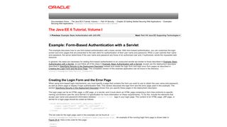 Example: Form-Based Authentication with a Servlet (The Java EE 6 ...