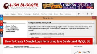 How To Create A Simple Login Form Using Java Servlet And MySQL DB