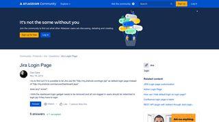 Solved: Jira Login Page - Atlassian Community