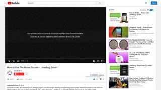 How to Use The Home Screen – Jitterbug Smart - YouTube